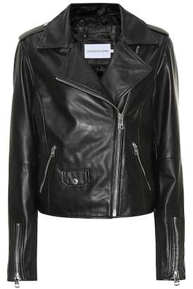Calvin Klein Jeans Leather biker jacket