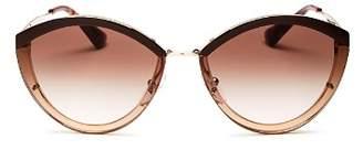 Prada Women's Oversized Rimless Cat Eye Sunglasses, 62mm