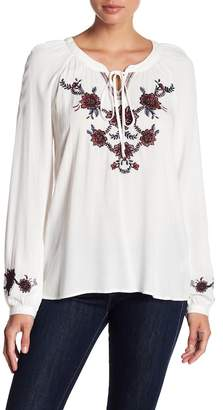 Blu Pepper Floral Embroidered Blouse