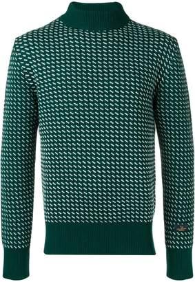 Woolrich contrast knit turtle-neck sweater