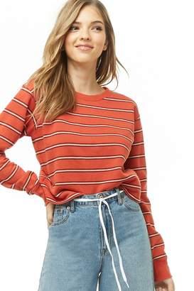 Forever 21 Stripe Fleece Pullover