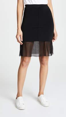 Alexander Wang Skirt With Mesh Underlay