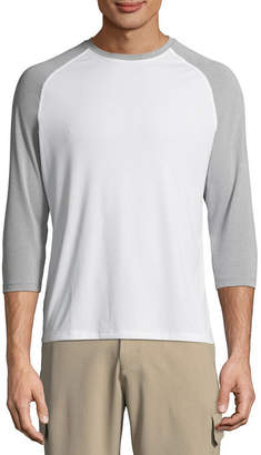 Hanes SPORTS Sports 3/4 Sleeve Crew Neck T-Shirt
