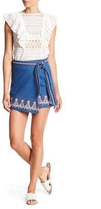 Avantlook Embroidered Boho Wrap Skirt