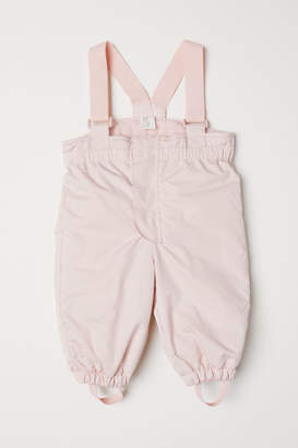 H&M Snow Pants with Suspenders - Pink