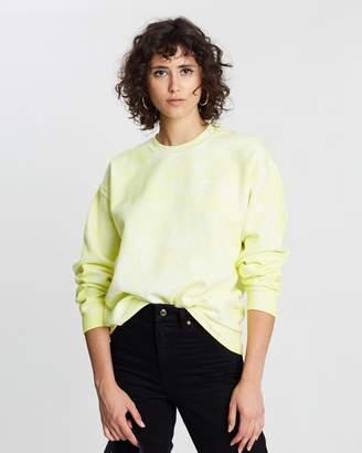 Topshop Fluorescent Washed Sweatshirt