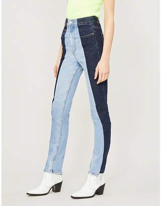 E.L.V. DENIM The Twin straight high-rise jeans