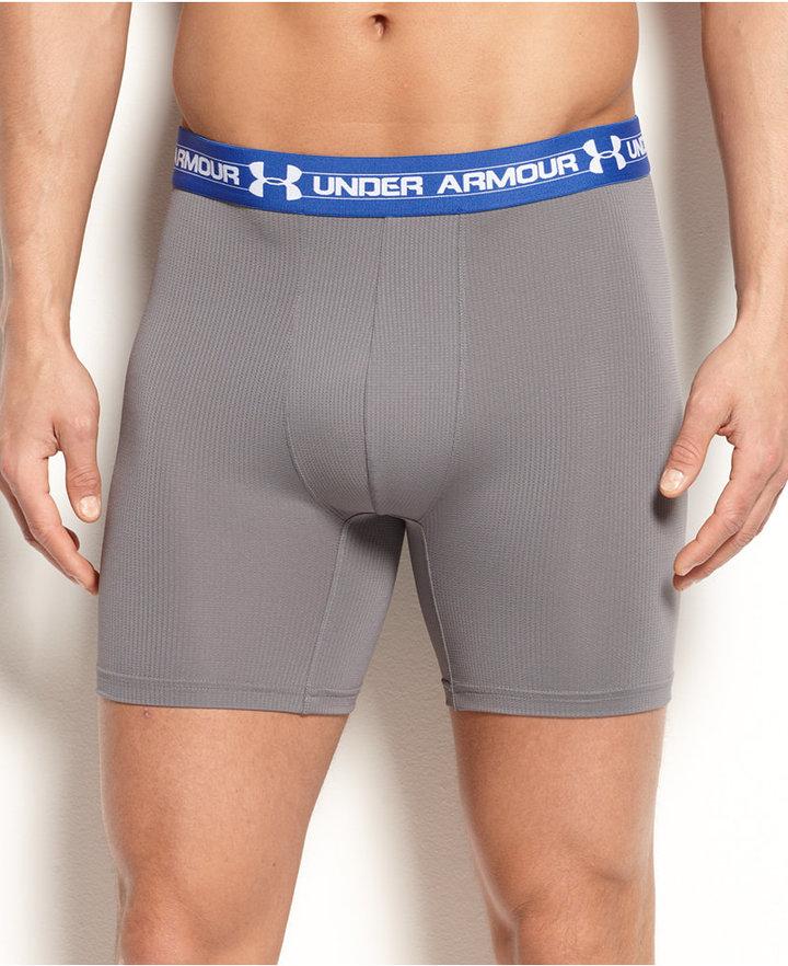 "Under Armour Men's Underwear, Mesh 6"" BoxerJock"