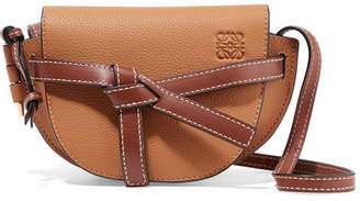 Loewe Gate Mini Textured-leather Shoulder Bag - Tan