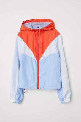 H&M Color-block Outdoor Jacket - Light blue/color-block - Women