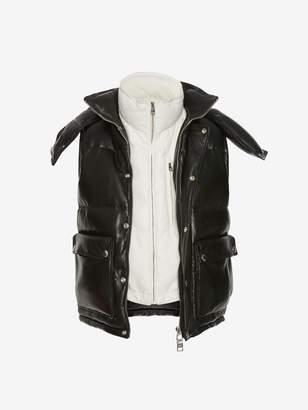 Alexander McQueen Lambskin Leather Down Jacket