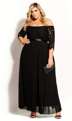 City Chic Citychic Intriguing Maxi Dress - black