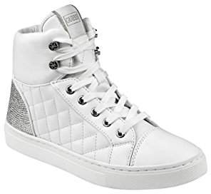 GUESS Women's Janis Quilted High-Top Sneakers