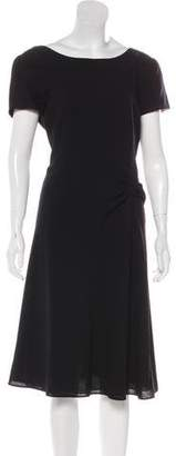 Armani Collezioni Virgin Wool Midi Dress