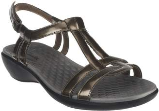 43fc6dc48564 Clarks Patent T-Strap Sandals - Sonar Aster