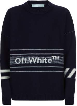 Off-White Off White Stripe Logo Sweater