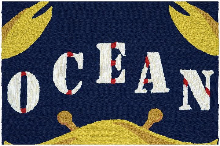 CouristanCouristan Gone Crabbing Hooked Rectangle Accent Rug