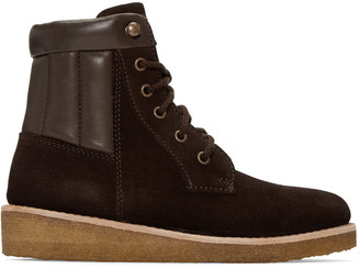 A.P.C. Brown Suede Sia Boots $425 thestylecure.com