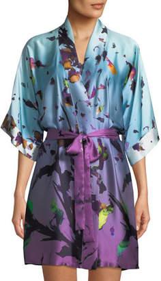 Christine Lingerie Kaleidoscope Silk Short Robe