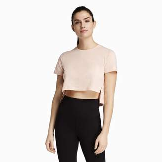 Danskin x Jenna Dewan HI LO Slit Crop T-Shirt - Women's