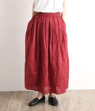 【オリジナル】ローズ刺繍ロングスカート(C・ボルドー)