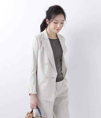 NEWYORKER women's 【店舗限定】リネンストレッチライト ダブルブレストジャケット