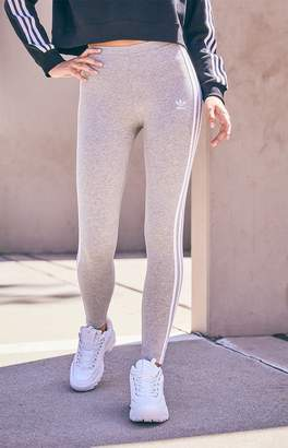 adidas Adicolor Heather Grey 3-Stripes Leggings