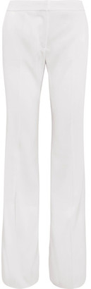 Stella McCartney - Alberta Twill Flared Pants - White $865 thestylecure.com