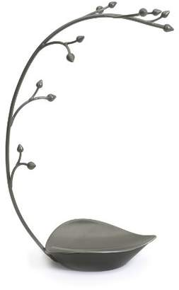 Umbra Orchid Jewelry Hanging Tree Stand - Multi-Functional Necklace Metal Holder Display Organizer Rack With a Ring Dish Tray - Great For Organization - Can Be Used As Decor