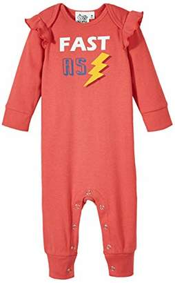 Silly Apples Baby Girls Cotton Blend Long-Sleeve Ruffled Romper Onesies (NB)
