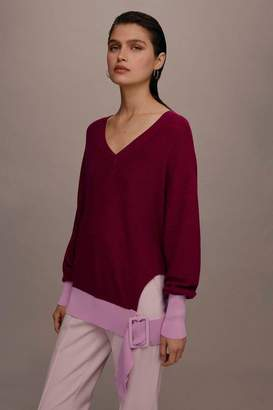 Topshop **Cut-out Contrast Knitted Jumper by Boutique