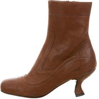 pradaPrada Square-Toe Ankle Boots