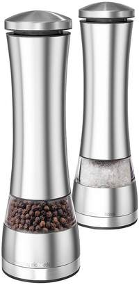 Morphy Richards Electronic Salt And Pepper Mill Set - Stainless Steel