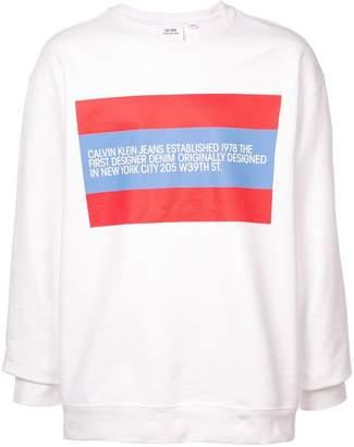 Calvin Klein Jeans Est. 1978 logo print sweatshirt