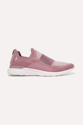 APL Athletic Propulsion Labs Techloom Bliss Mesh And Neoprene Sneakers - Plum