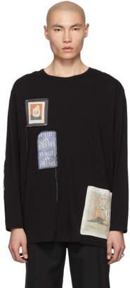 Yohji Yamamoto Black Patched Long Sleeve T-Shirt