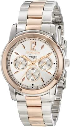 Invicta Women's Angel Silver Dial Two Tone Stainless Steel Watch 11736