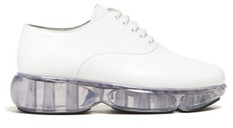 Prada Cloudbust Leather Oxford Shoes - Womens - White
