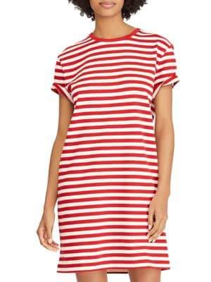 Polo Ralph Lauren Striped Cotton Jersey T-Shirt Dress