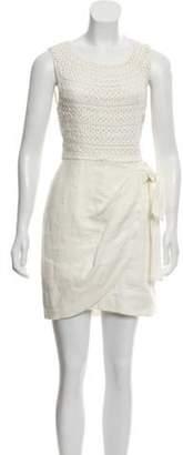 3.1 Phillip Lim Linen Mini Dress White Linen Mini Dress