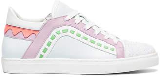 Sophia Webster Pastel Riko glitter sneakers
