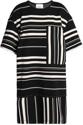 3.1 Phillip Lim Striped Cotton-Blend Mini Dress
