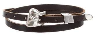 Kieselstein-Cord Sterling Leather Belt