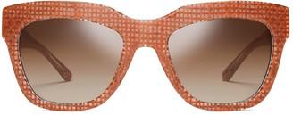 Raffia Square Sunglasses