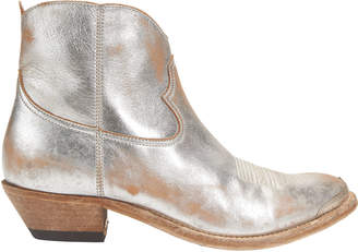 Golden Goose Young Cowboy Metal Tip Boots