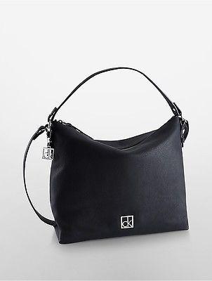 Calvin KleinCalvin Klein Womens Cassidy Top-Zip Hobo Bag Black