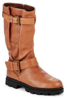 Camden Leather Mid-Calf Boots $295 thestylecure.com