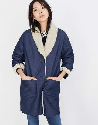 Madewell Sherpa-Bonded Denim Cocoon Coat