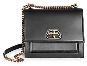 Balenciaga Women's Small Sharp Double Leather Crossbody Bag