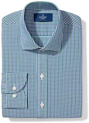 Buttoned Down Men's Slim Fit Gingham & Stripe Non-Iron Dress Shirt
